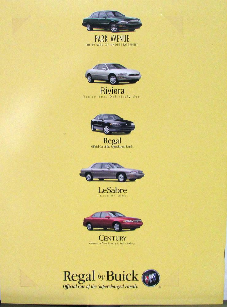 1998 Buick Regal Color Sales Brochure Original