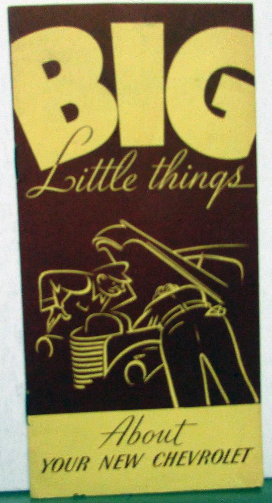 1940 Chevrolet Dealer Sales Brochure Big Little Things New Models Features