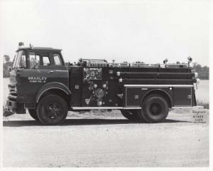 1964 GMC 7000 Seagrave Corp N1920 Bradley Fire Co Fire Truck Press Photo 0032