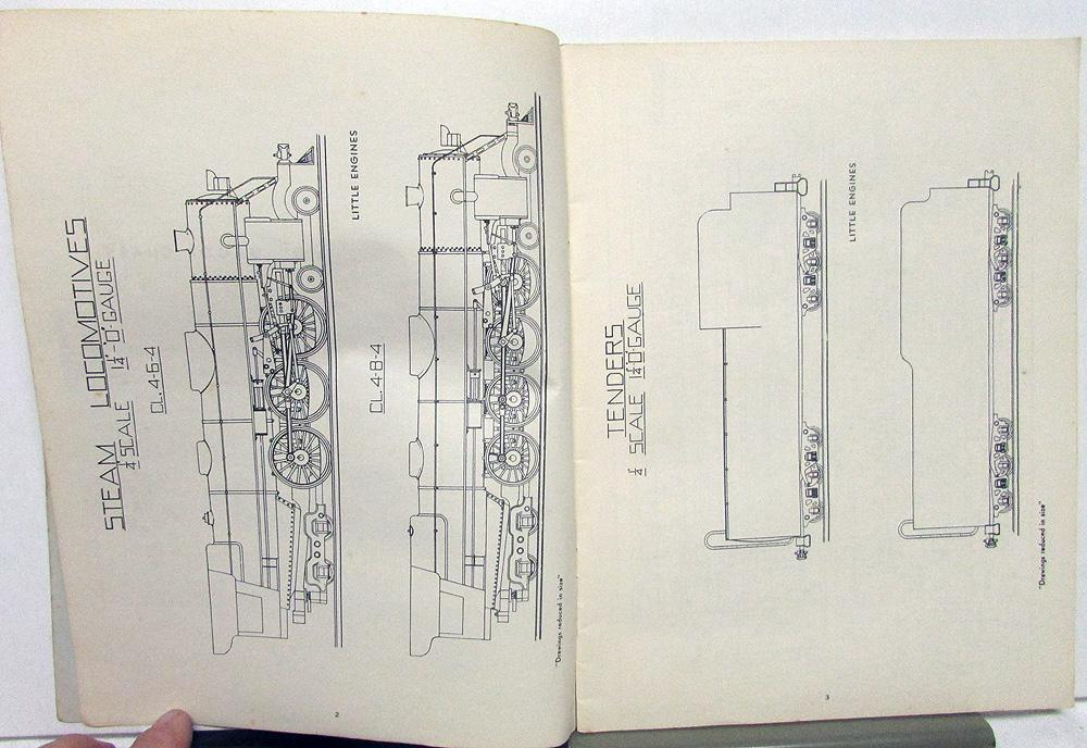 Drawings & Instructions 1/4 Inch Scale Steam Locomotives Little