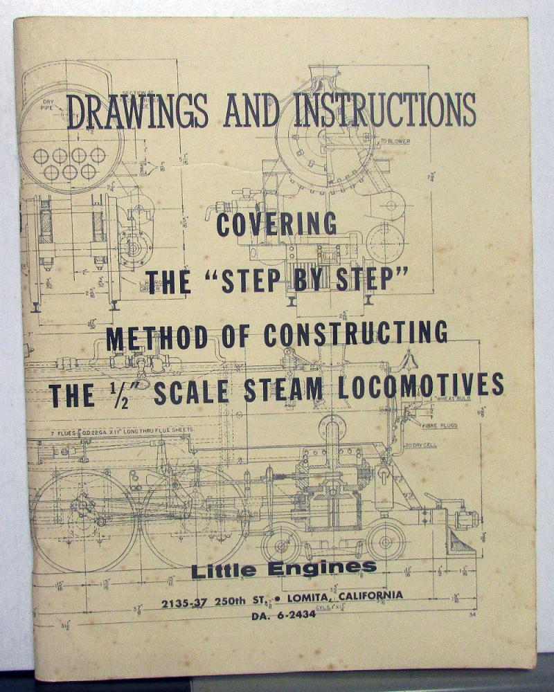 Drawings & Instructions 1/2 Inch Scale Steam Locomotives Little
