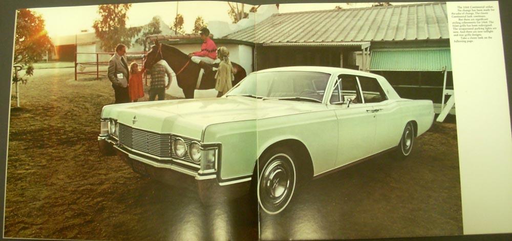 1968 lincoln continental color original sale brochure sedan coupe specs features. Black Bedroom Furniture Sets. Home Design Ideas