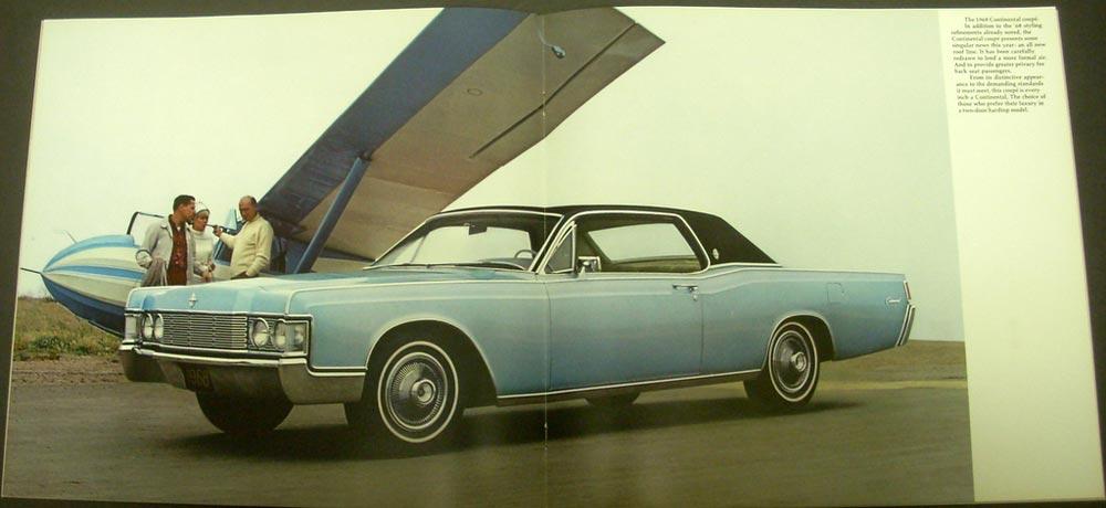 1968 lincoln continental color original sale brochure. Black Bedroom Furniture Sets. Home Design Ideas