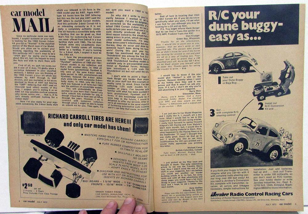 Car Model Magazine HO Road Aurora Modeler Slot Cars Tracks