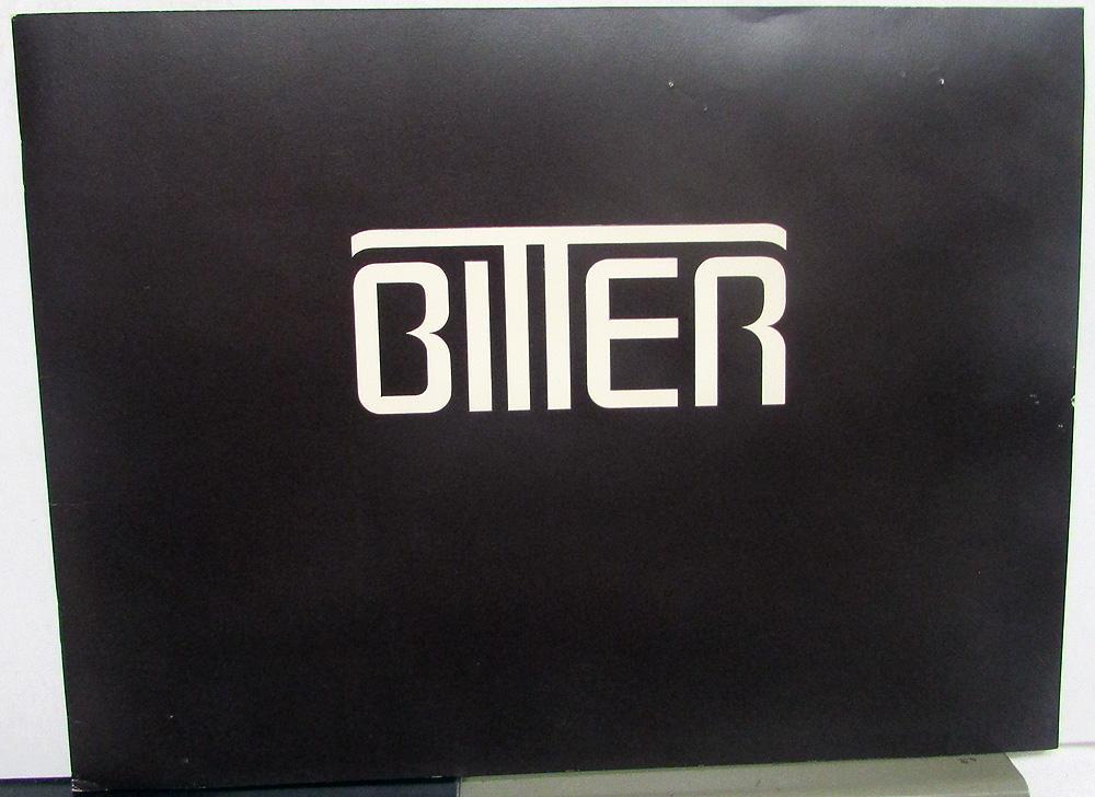 1980 Bitter SC Dealer Prestige Sales Brochure German Built