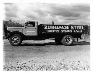 1953 Era Mack Truck Press Photo 0092 - Zurbach Steel - Somerville