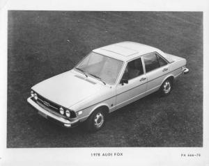1978 Audi Fox Press Photo and Release 0005