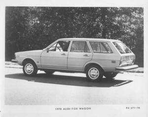 1978 Audi Fox Station Wagon Press Photo and Release 0006