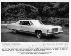 1976 Lincoln Continental Press Photo 0046