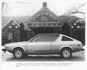 1978 Renault 17 Gordini Coupe Convertible Press Photo 0014