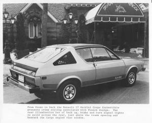 1978 Renault 17 Gordini Coupe Convertible Press Photo 0015