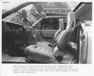 1978 Renault 17 Gordini Coupe Convertible Interior Press Photo 0016