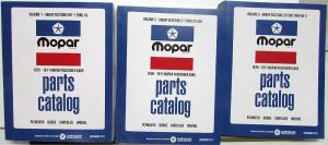 1970 1971 Mopar Parts Book Plymouth Dodge Cuda Challenger GTX Road Runner Repro