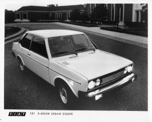 1976 Fiat 131 2-Door Sedan Coupe Press Photo 0006