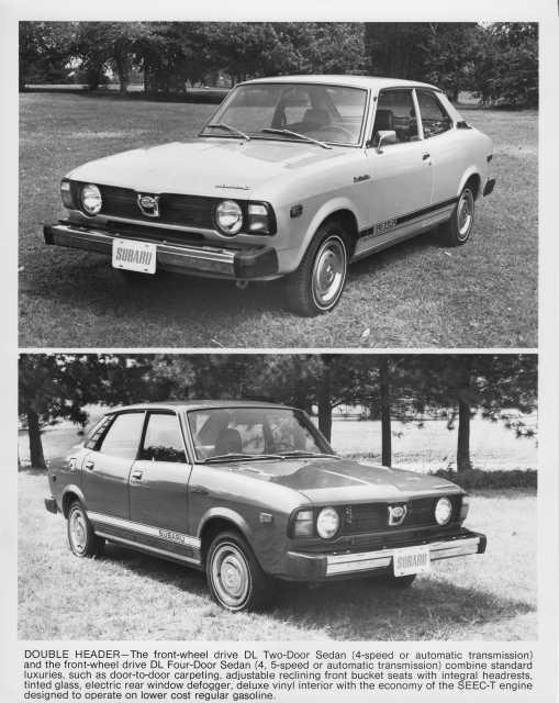 1978 Subaru DL Two-Door and Four-Door Sedan Press Photo 0015