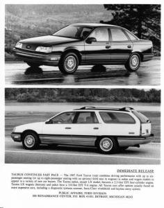 1987 Ford Taurus and Station Wagon Press Photo 0103