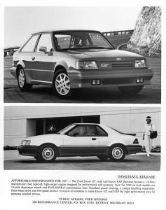 1987 Ford Escort GT and EXP Press Photo 0108