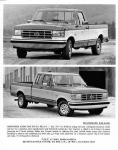 1987 Ford F-Series 150 Regular and SuperCab Press Photo 0110