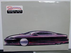 1995 Chevrolet SEMA Auto Show Press Kit Media Release 1996 New Models Corvette