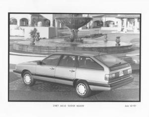 1987 Audi 5000S Wagon Press Photo 0013