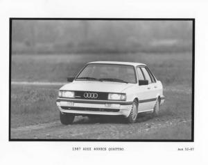 1987 Audi 4000CS Quattro Press Photo 0014