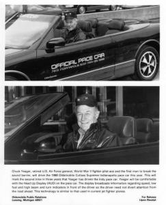 1988 Oldsmobile Cutlass Supreme Indy 500 Pace Car Press Photo 0053 Chuck Yeager
