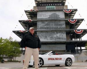 2011 Chevrolet Camaro Indy 500 Pace Car with AJ Foyt Color Press Photo 0068