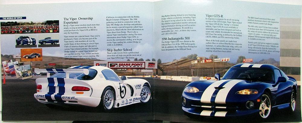 1996 Dodge Viper Gts Prestige Sales Brochure