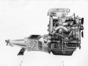1962 Fiat 1100D Engine Factory Press Photo and Release 0013 - Turin Auto Show