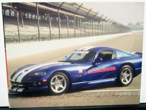 1996 Dodge Viper Indianapolis 500 Pace Car Postcard From 1995 Dayton Auto Show