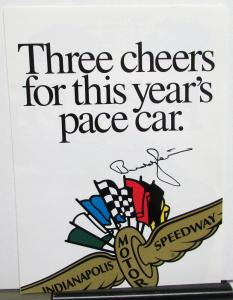 1996 Dodge Viper Indianapolis 500 Pace Car Sales Brochure Buddy Lazier Signed
