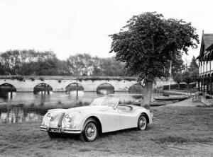 1954 Jaguar XK140 Roadster Factory Press Photo 0016