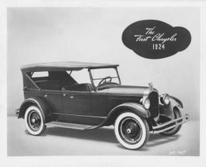 1924 Chrysler First Car Factory Press Photo 0006