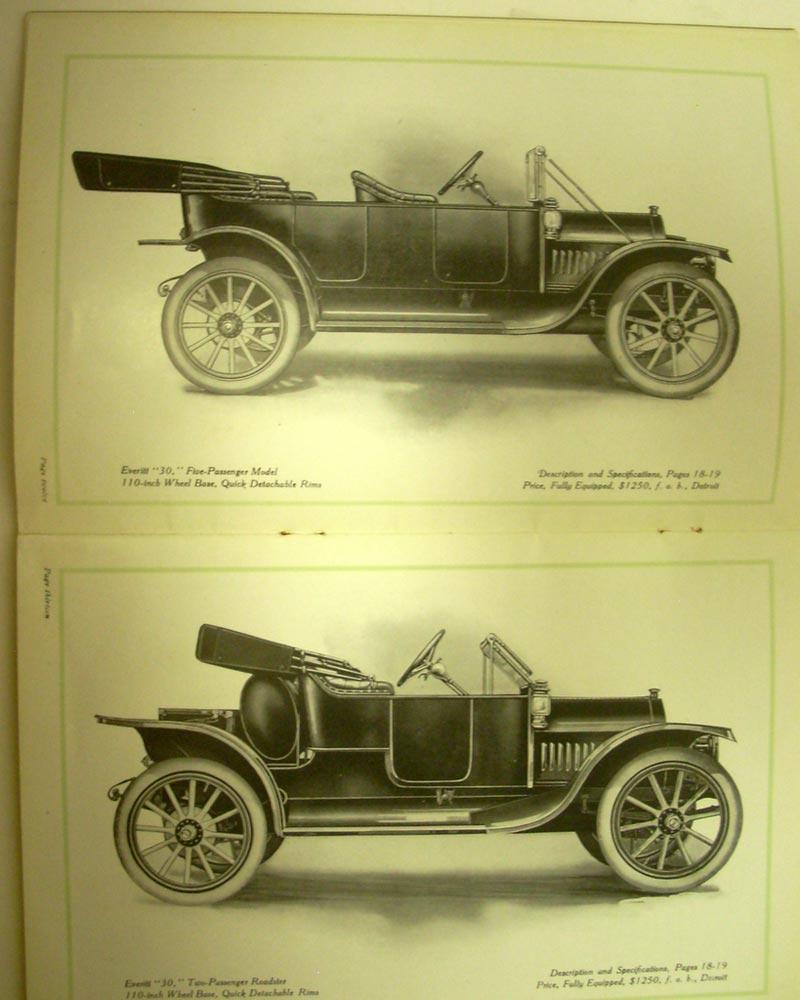1912 Everitt Motor Cars Model 6 48 4 36 30 Dealer Sales