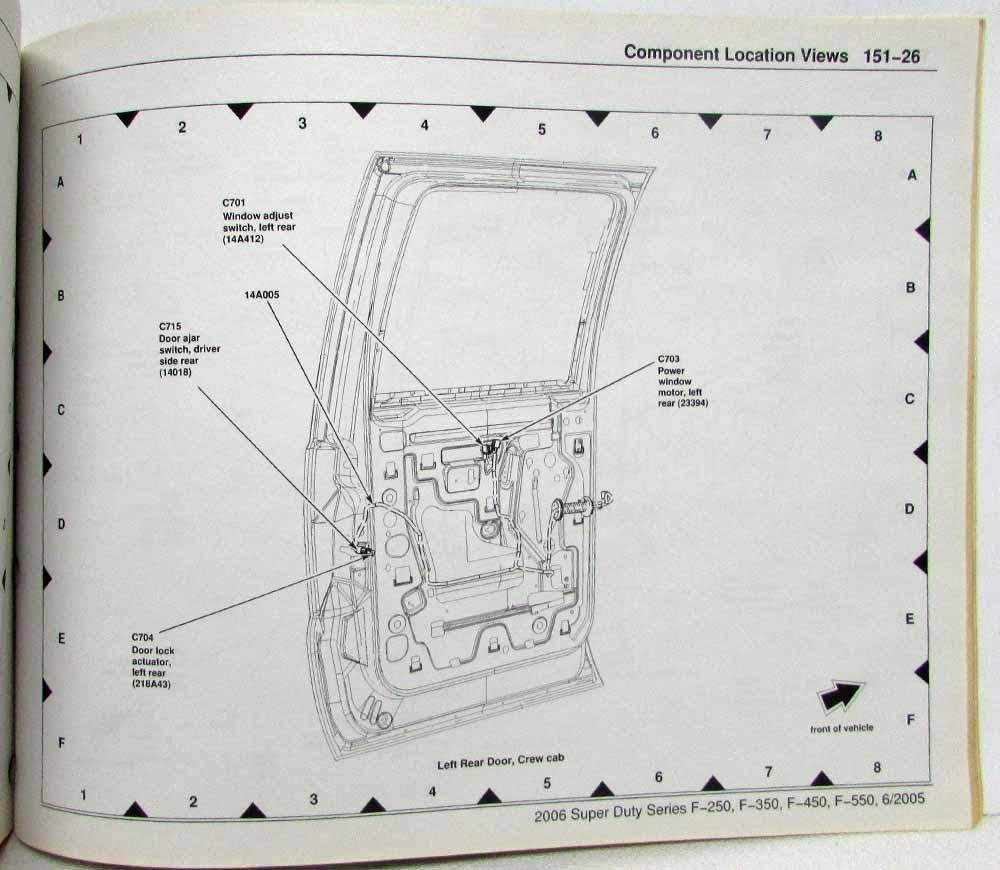 2006 Ford F-250 350 450 550 Super Duty Pickup Electrical ... F Super Duty Wiring Diagram on model a wiring diagram, k5 blazer wiring diagram, civic wiring diagram, fusion wiring diagram, crown victoria wiring diagram, mustang wiring diagram, f150 wiring diagram, taurus wiring diagram, bronco wiring diagram, windstar wiring diagram, f250 super duty wiring diagram,