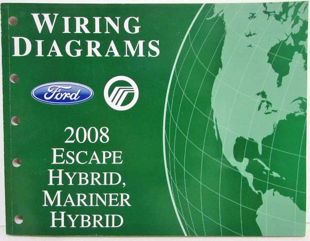 Peachy 2008 Ford Escape Mercury Mariner Hybrid Electrical Wiring Diagrams Wiring Cloud Brecesaoduqqnet
