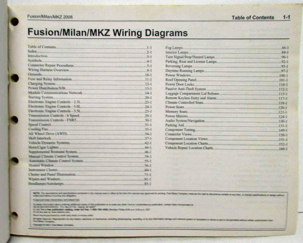1999 Ford Taurus Mercury Sable Wiring Diagram Manual Original