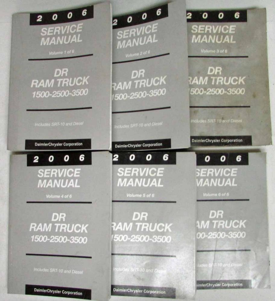 2006 dodge ram srt10 dr 1500 2500 3500 service manual