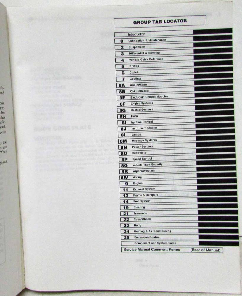 2006 Chrysler Sebring Sedan/Convertible and Dodge Stratus Service Shop  Manual