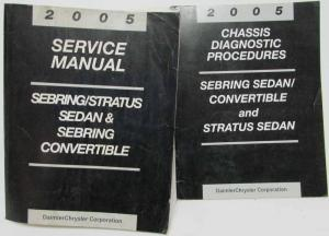2005 Chrysler Sebring 4Dr/Conv Dodge Stratus Service Manual & Chassis Diagnostic