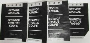 2005 Chrysler Sebring & Dodge Stratus Coupe Service Shop Repair Manual 4 Vol Set