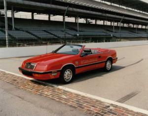 1987 Chrysler LeBaron Indy 500 Official Car Color Press Photo 0008