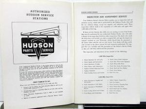 1948 Hudson Super Commodore Six & Eight Owners Operator Manual Instructions