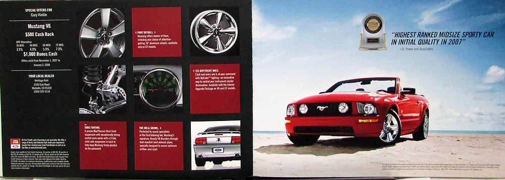 New! 2010 Ford Mustang V6 GT Shelby GT500 Dealer Sales Brochure