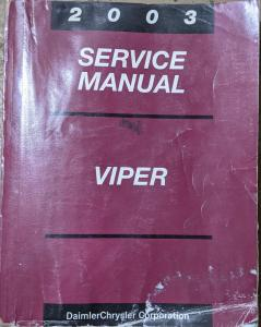 2003 Dodge Viper Service Shop Repair Manual V10 Dealer Original