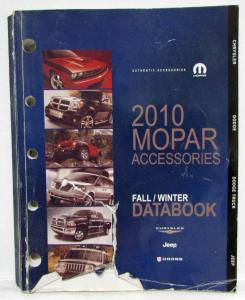 2010 MOPAR Accessories Databook - Chrysler Dodge Jeep Dealer Sales Reference