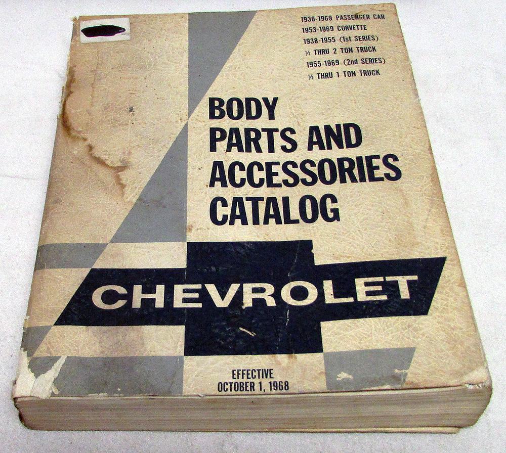 1938-1969 Chevrolet Cars & Trucks Body Parts List