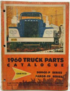 1960 Dodge Truck P-Series & Fargo FP Series Parts List Catalogue - Canadian