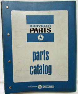 1978-1979 MoPar Info Parts Lists Motor Home Chassis - M880 Military Truck & More
