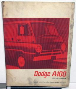 1967 Dodge Truck Models A-100 Compact Service Manual Sportsman Wagon Van Pickup